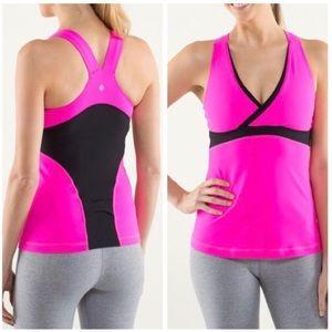 Lululemon: Deep V Athletic Tank Hot Pink